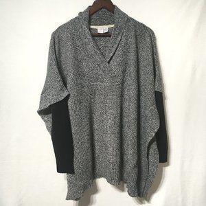 Twik Grey Poncho Style Sweater